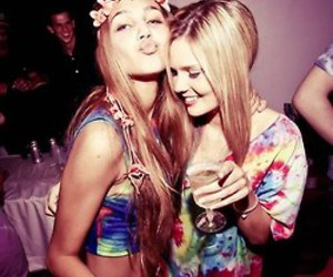 drunk, girl, and hippie image