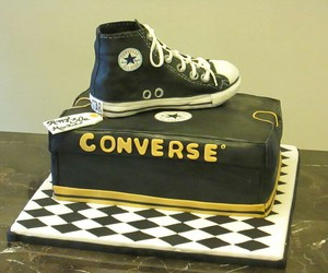 cake, converse, and food image