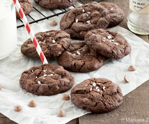 chocolate, Cookies, and salted caramel image