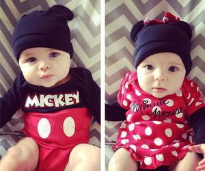 baby, mickey, and minnie image