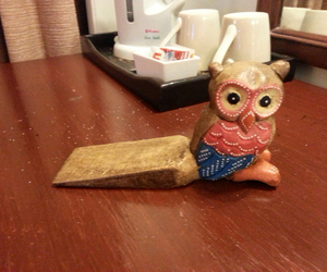 owl, cute, and door stopper image
