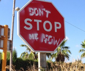 Queen, don't stop me now, and stop image