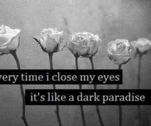 dark, paradise, and flowers image