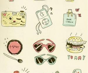 mac, perfume, and drawing image
