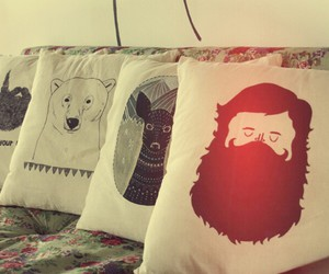 pillow, hipster, and bear image