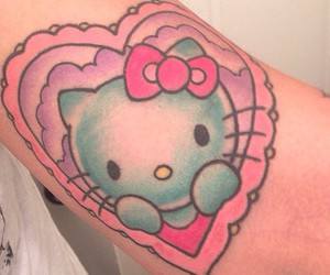 hello kitty, HK, and ink image