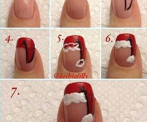 christmas, nail art, and red image