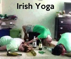 funny, yoga, and irish image