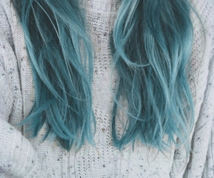 blue hair, color hair, and cool image