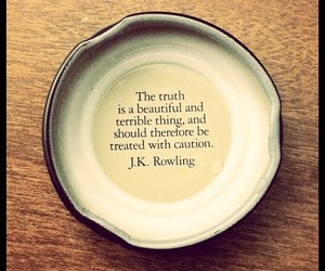 quote, truth, and jk rowling image