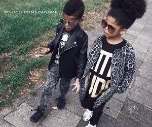 fashionable, hair, and kids image