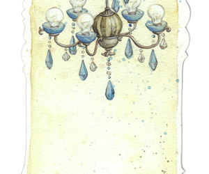 blue, chandelier, and crow image