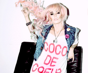 audrey kitching, hipster, and pink hair image
