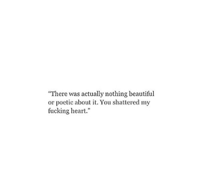 depressing, quotes, and broke my heart image