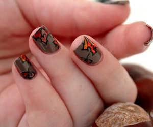 arbres, automne, and nail art image
