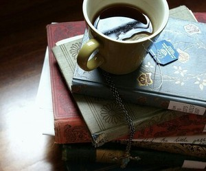book, tea, and photography image