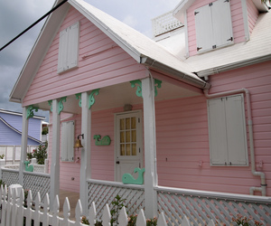 pink, house, and pastel image