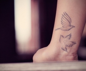 birds, tattoo, and cute image