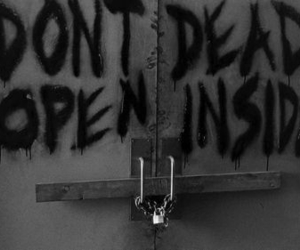 dead, the walking dead, and black and white image
