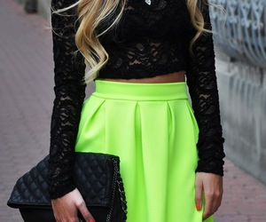 fashion, black, and neon image