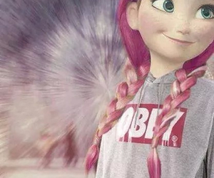 obey, anna, and disney image