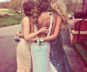dress, Prom, and friends image