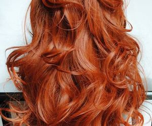 long and red hair image