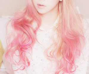 hair, pink, and kawaii image