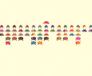 art and space invaders image
