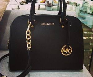 bag, Michael Kors, and black image