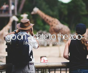 couple, zoo, and girly thing image