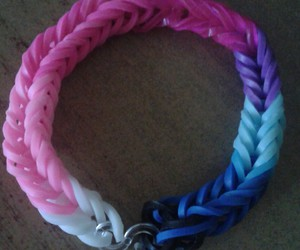 bands, blue, and pink image