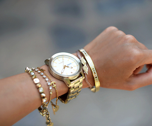 watch, gold, and fashion image