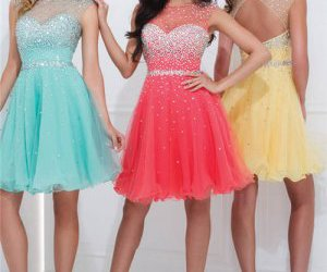 beaded, short, and party dress image