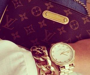 Louis Vuitton, luxury, and watch image