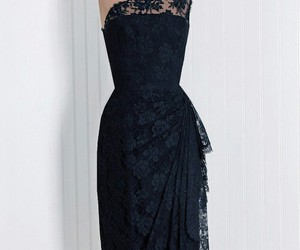 dress, lace, and black image