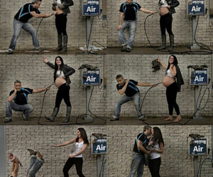 baby, pregnant, and couple image