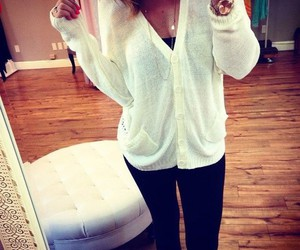 cardigan, outfit, and pretty image