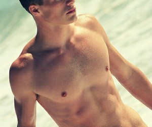 abs, model, and colton haynes image