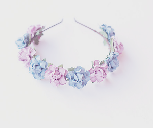 flowers, flower crown, and girl image