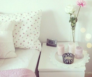 beautiful, pink, and candle image