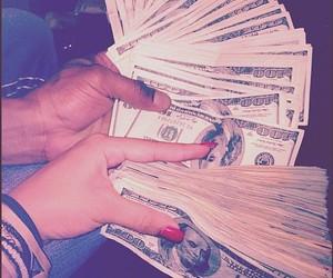 money, dollar, and nails image
