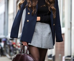 class, high heels, and skirt image