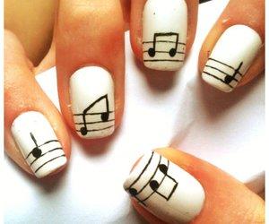 nails, music, and nail art image