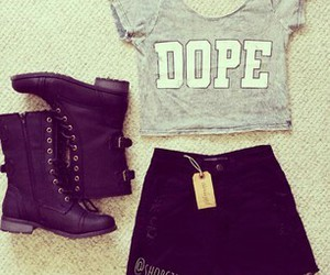 boots, clothes, and dope image