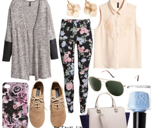fall, fashion, and floral image