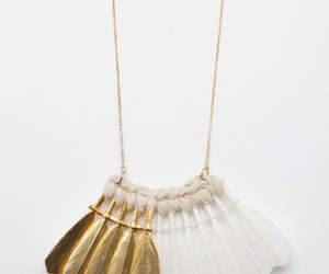 fashion, necklace, and feathers image