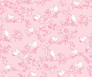 pink, wallpaper, and birds image