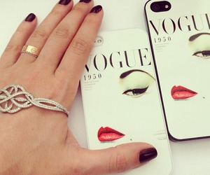 vogue, iphone, and nails image
