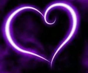 heart, love, and purple image